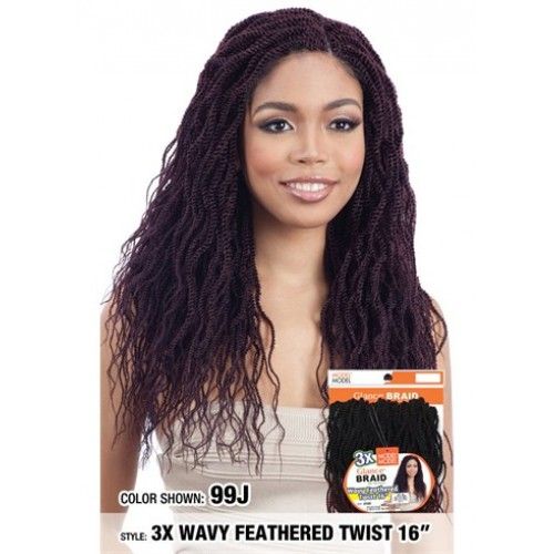 Model Model Glance 3X WAVY FEATHERED TWIST 16""