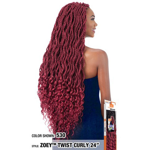 Model Model Crochet Zoey Braid Twist Curly 24""