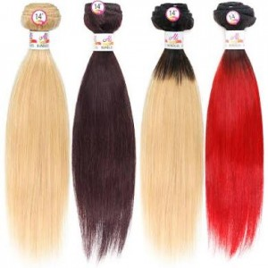 Ali Bundles Unprocessed Brazilian Virgin Human Hair Weave Straight