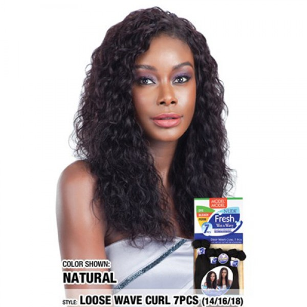 Model Model Nude Fresh Wet Wavy Weave Loose Wave Curl 7pcs 141618