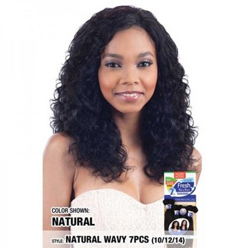 "Model Model Nude Fresh Wet & Wavy Weave Natural Wave 7pcs (10""12""14"")"
