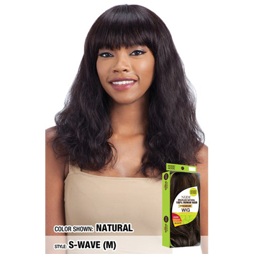 Model Model Nude Premium Human Hair Wig S-WAVE (M)