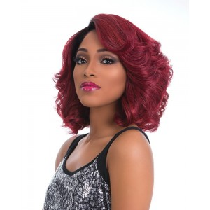 Sensationnel Empress Curved Part Lace Front Edge Wig Cherry